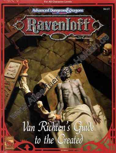 Ravenloft: Van Richten's Guide to the Created