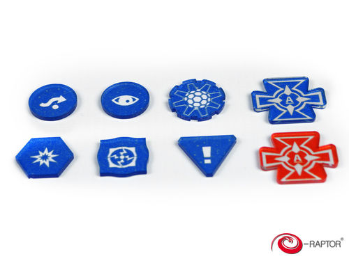 Token and Marker: X-Wing™ Complete Tokens Set (80pcs) Blue