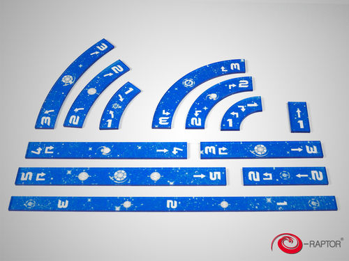 SWX Rulers Set Blue (in Box) (OOP)