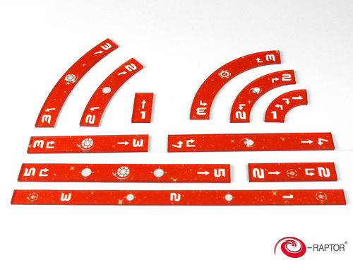 SWX Rulers Orange Set