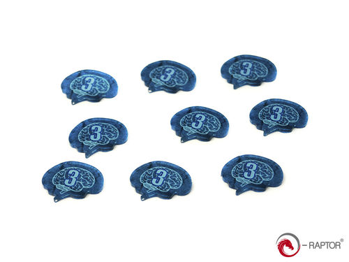 "Token and Marker: Sanity Tokens Set ""3"" (15pcs) for Arkham Horror™, Eldritch Horror™, Elder Sign™"