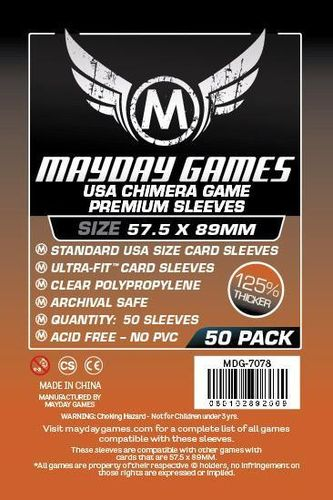 Premium USA Chimera Game Sleeves (50pcs) 57,5x89mm -7078