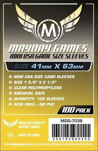 Mini USA Game Card Sleeves (100pcs) 41x63mm - 7039