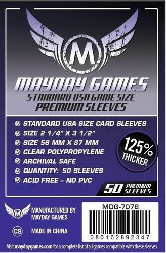 Premium USA Game Card Sleeves (50pcs) 56x87mm - 7076