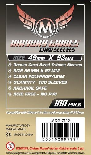Roman Card Sized Sleeves (100) 49x93mm - 7112