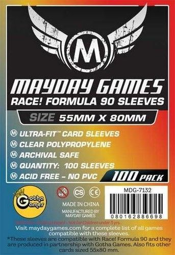 Race! Formula 90 Card Sleeves (100pcs) 55x80mm - 7132