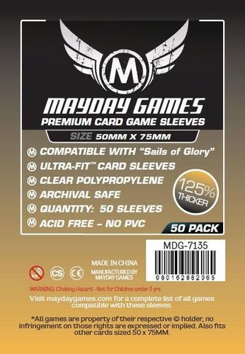 "Premium Card Sleeves ""Sails of Glory"" (50pcs) 50x75mm - 7135"