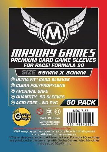 "Premium Card Sleeves ""Formula 90"" (50pcs) 55x80mm - 7137"