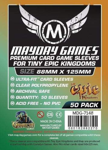Premium Tiny Epic Kingdoms Sleeves (50pcs) 88x125mm - 7148