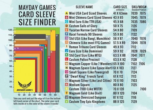 Mayday Games - Card Sleeve Size Finder 8x11inch - 7000