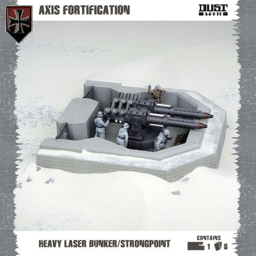 Dust Tactics: Axis Fortification - Heavy Laser Bunker/Strongpoint