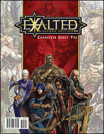 Exalted: Charakter Sheet Pad