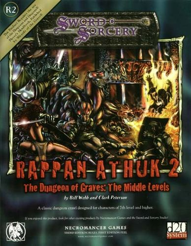 Sword&Sorcery: Rappan Athuk 2: The Dungeon of Graves: The Middle Levels