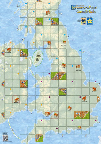 Carcassonne: Maps Great Britain (84,1 x 59,4cm)