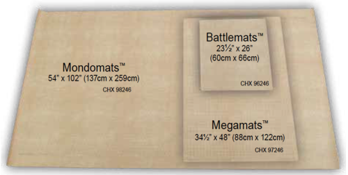 Spielmatte - Reversible Battlemat (60x66cm) with 38mm Squares and Hexes