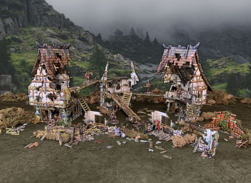 Tabletop Terrain Village Ruins (163 pcs) EN