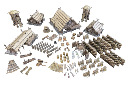 Tabletop Terrain Northern Settlement (556 pcs) EN