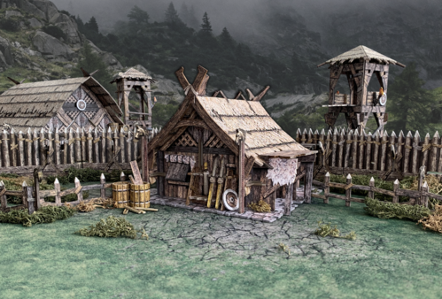 Tabletop Terrain Northern Homestead (83 pcs) EN