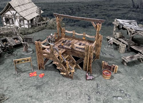 Tabletop Terrain Gallows + Stocks EN