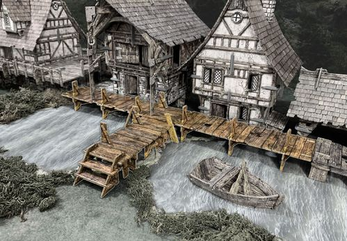 Tabletop Terrain Raised Walkways EN