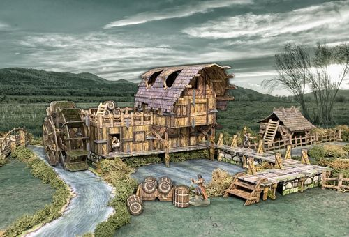 Tabletop Terrain Water Mill (110 pcs) EN