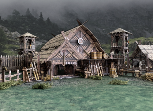 Tabletop Terrain Mead Hall (211 pcs) EN