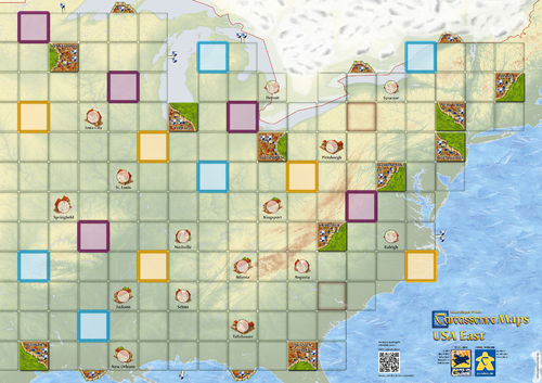 Carcassonne: Maps USA East (84,1 x 59,4cm)