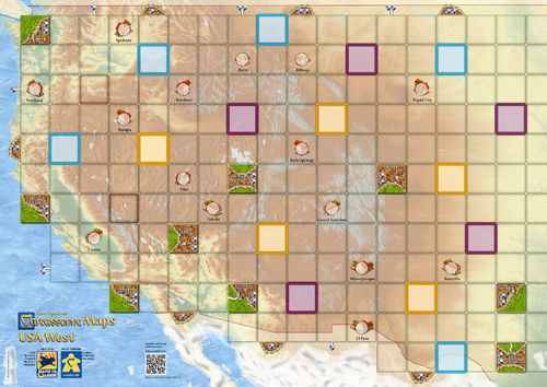 Carcassonne: Maps USA West (84,1 x 59,4cm)